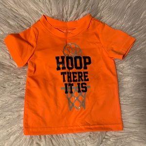 Baby athletic orange shirt sleeve T-shirt